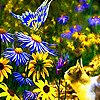 Friends in the  flower garden puzzle