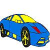 Hot and big city car coloring