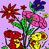 Mice in the garden coloring